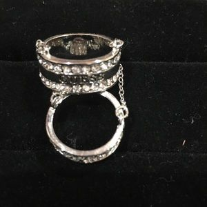 Guess silver ring
